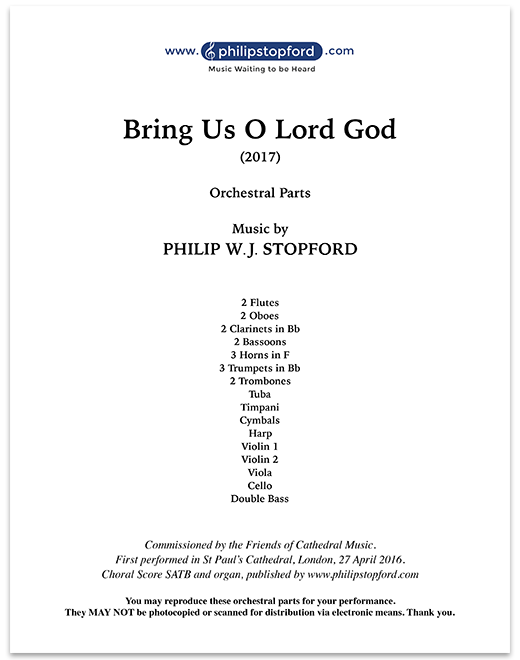 Bring Us O Lord God