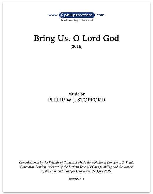 Bring Us, O Lord God